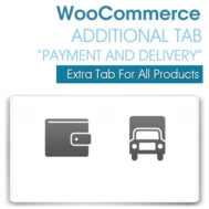 "WooCommerce Additional Tab ""Payment and Delivery"""