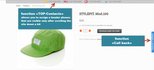 Woocommerce Function «TOP-Contacts»