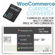 WooCommerce Currency Converter Multicurrency Price in two currencies