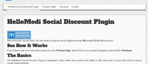hellomodi-social-discount-plugin-screenshot-1
