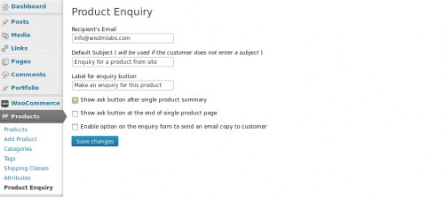 product-enquiry-for-woocommerce-screenshot-1